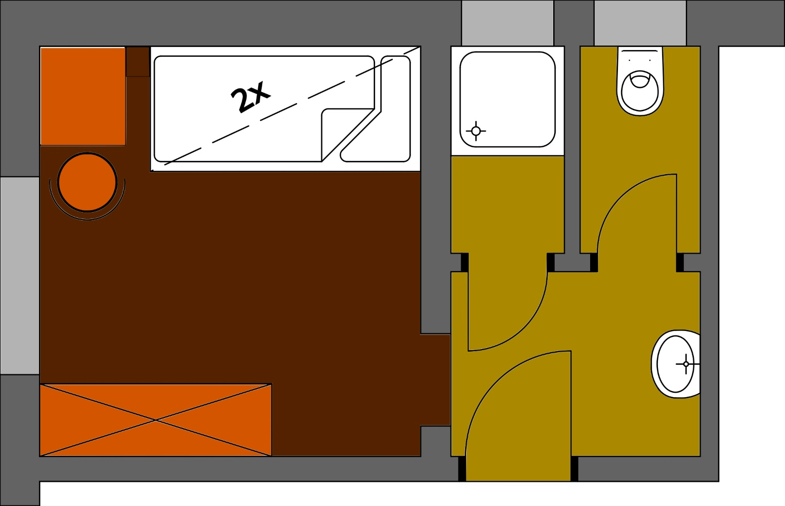 Grundriss Zimmer 1